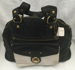 Coach Legacy Luci Leather Dome Large Satchel F11649 Black $798 NWT