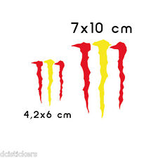 #560# BANDERA ESPAÑA MONSTERS vinilo REFLECTANTE  2unds coches motos cascos