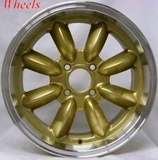 15X7 ROTA RB WHEEL 4X100 +25 57.1MM ROYAL GOLD WHEELS FITS BMW 2002 1966-1976