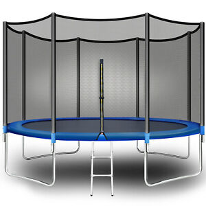 Polar Aurora 12Ft Outdoor Trampoline for Kids Adults with Safety Enclosure Net