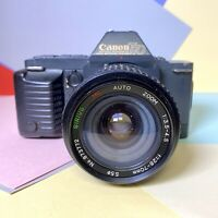Canon T70 Film Camera SLR with FD 28-70mm F:3.5-4.5 Lens Film Tested! Working!