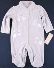 NWT First Impressions Girl's Lavender Velour Bow Sleeper with Feet, 0-3 Mos.