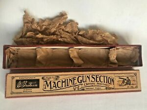 BRITAINS 198 Machine Gun Section(Sitting Position) ORANGE 1938-41 Issue BOX ONLY