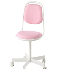 *New* ÖRFJÄLL  Children's desk chair, white, Vissle pink 304.417.71 *Brand IKEA*