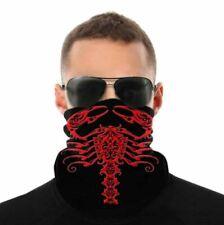 Red & Black Tribal Scorpion (1) Bandana Neck Gaiter One Size
