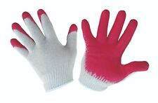 Red Palm Dipped Cotton Gloves - Size L (120 pairs)