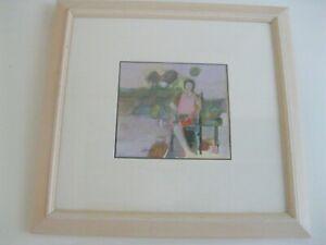 Veloy Vigil Acrylic on Canvas Painting  Original Art 1969