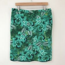 Sportscraft Womens Skirt, Size 14, Cotton Floral Stretch