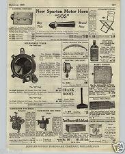 1925 PAPER AD Kingston Holley Ford Carburetor Sparton Motor Horn