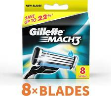 Gillette Mach3 Pack Of 8 Cartridges Shaving Blades For Razor New Mach 3 Germany