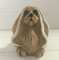 Artesania Rinconada Pekingese Dog Figurine Uruguay Art Pottery Handmade