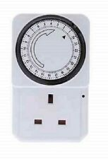 Plug-in Timer  - 24 Hour Programmable 3 Pin UK Main Wall Home Plug Socket