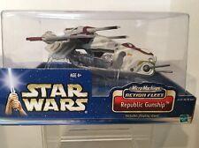 Star Wars 2002 MicroMachines Action Fleet Republic Gunship Hasbro Galoob AOTC !!