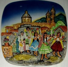 Royal Doulton Christmas In Mexico 1973 Christmas Around World collectible plate