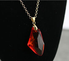Stylish Jewelry Red Harry potter Magic Stone Necklace Pendants For Party Gifts