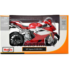2012 MV AGUSTA F4RR BIKE RED WHITE 1:12 DIECAST MOTORCYCLE MODEL MAISTO 11098