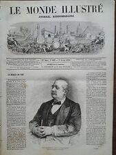 LE MONDE ILLUSTRE 1870 N 669 MARQUIS DU PIRE de ROSNYVINEN dit FELIX RIBEYRE