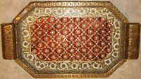 Gorgeous Antique ornate Hand Carved Ethnic Tray show-piece