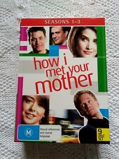 HOW I MET YOUR MOTHER -SEASON 1-3 – DVD, 9-DISC BOX SET, R-4, LIKE NEW FREE POST