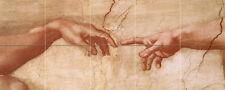 Sikstinska Kapela Fragment Art Mural Ceramic Bath Decor Backsplash Tile #84