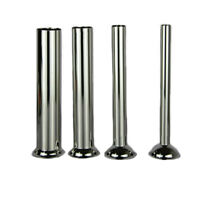 4pcs Stainless Steel Meat Grinder Sausage Stuffer Tube Horn Funnel Filling Tools
