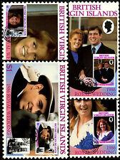 Isole Vergini britanniche 1986 Matrimonio Reale massimo Card Set #c39893