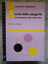 Lawvere Schanuel Teorie delle categorie introduzione alla matematica concettuale