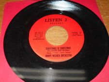 CHRISTMAS 45, JIMMY WISNER.  XMAS IS XMAS ALL OVER THE WORLD. BOTH SIDES. VG++.