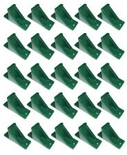 Green Plastic Mini Roof Snow Ice Guard - 25 Pack | Prevent Sliding Snow Buildup