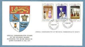 1977 SOLOMON ISLANDS SILVER JUBILEE ROYAL COMMONWEALTH SOCIETY FDC