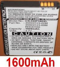 Batterie 1600mAh type 35H00123-00M 35H00123-02M RHOD160 Pour HTC Touch Pro 2