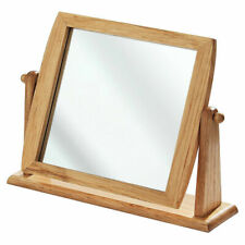 New Table Mirror Wooden Freestanding Bathroom, Shaving Dressing - zmum67