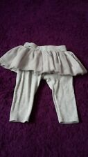 Baby girl grey tulle skirt legging duo size 6-12 mths by GAP