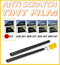 SCRATCH RESISTANT CAR VAN WINDOW TINT FILM ULTRA DARK LIMO BLACK  1% 76cm x 6M