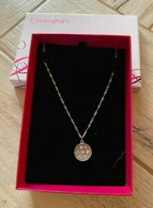 Buckingham - Silver Coloured Adjustable Sparkly Pendant Necklace - Boxed, VGC