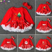 Toddler Newborn Baby Girls Merry Christmas Feast Princess Tutu Dress Outfits Set