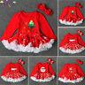 Toddler Newborn Baby Girls Christmas Feast Princess Red Tutu Dress Outfits Set