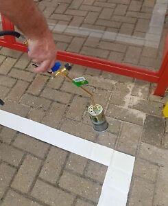 FAHRBAHN PARKPLATZ MARKIER MARKIERUNG 50m x 100mm GELB, NEU & Wiedereinsetzung
