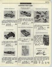 1958 PAPER AD Revell Scale Models Impala Convertible Ferrari Sunliner Hawk Atlas