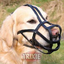 Bozal para perros Trixie con cintas de cuero negro