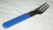 Dansk ' Summer House ' Medium Blue Handle (1) Dinner Fork Stainless Flatware