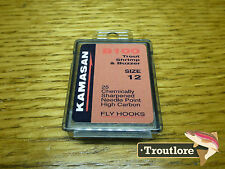 25 X KAMASAN B100 #12 Grub / SCUD Fly Hooks - Fly Tying Materials