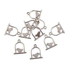 10pcs Bird cage Tibetan Silver pendant beads charms Fit European Bracelet