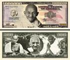Gandhi Ticket Million Dollar! Collection Histoire India Wisdom Signatur Citation photo