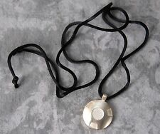 Q Link 925 Sterling Silver Modernist Pendant w/ Mixed Inlaid Metals