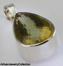 CITRINE PENDANT 925 STERLING SILVER ARTISAN JEWELRY COLLECTION Y086B