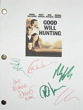 Good Will Hunting Signed Movie Script X6 Damon Affleck Robin Williams reprint