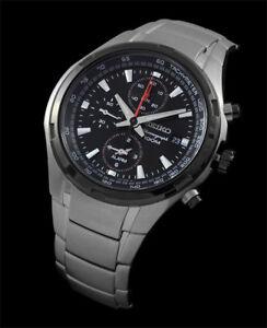 Seiko SNAE43 SNAE43P1 Alarm Mens Chronograph Watch WR100m NEW RRP $595.00
