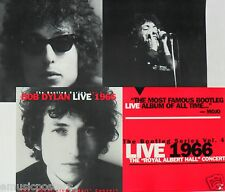 "BOB DYLAN ""LIVE 1966 AT ROYAL ALBERT HALL"" 2-SIDED U.S. PROMO POSTER / BANNER"