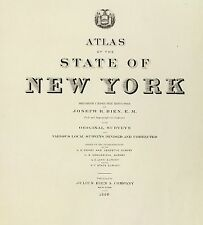 New York State 1895 Atlas maps old Genealogy Dvd S1